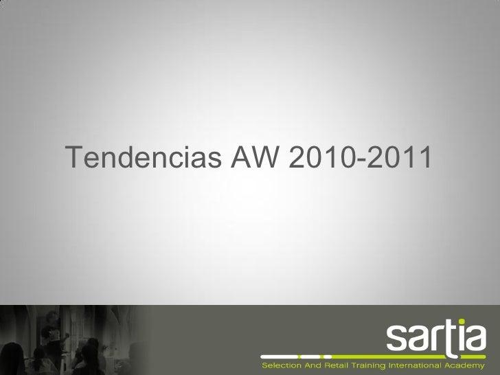 Tendencias AW 2010-2011