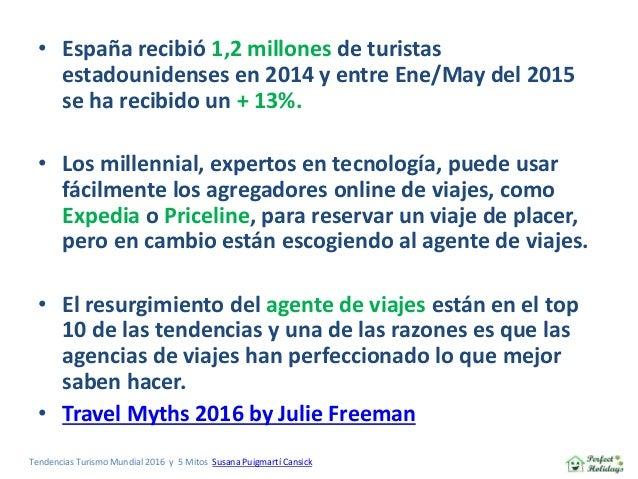Tendencias y Mitos del Turismo Mundial 2016 (encuesta realizada en EEUU) Slide 3