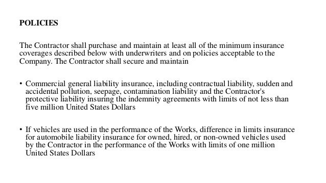 Tendering Clauses Of Contract