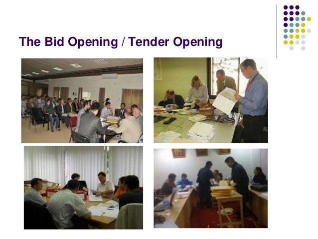 The Bid Opening / Tender Opening