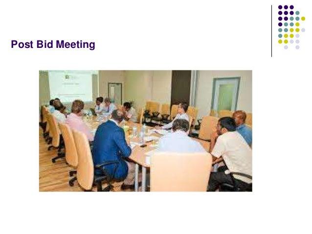 Post Bid Meeting