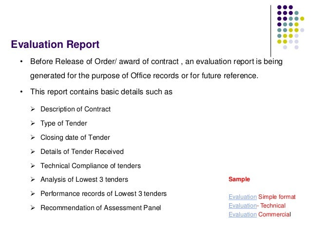 Tendering process, Bid Evaluation & Award Process
