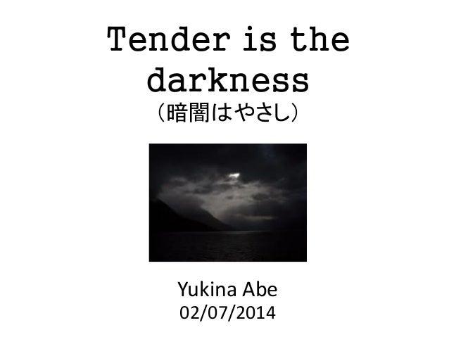 Tender is the darkness (暗闇はやさし)  Yukina Abe 02/07/2014