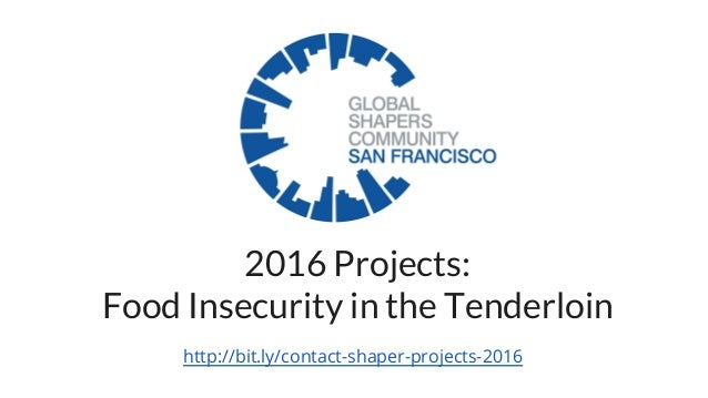 2016 Projects: Food Insecurity in the Tenderloin http://bit.ly/contact-shaper-projects-2016