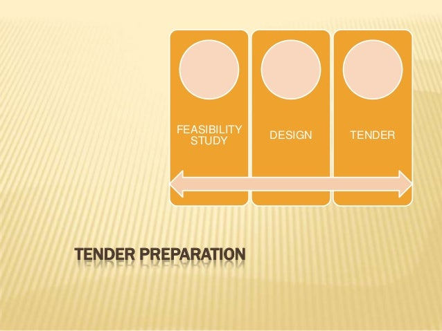 FEASIBILITY STUDY DESIGN TENDER TENDER PREPARATION
