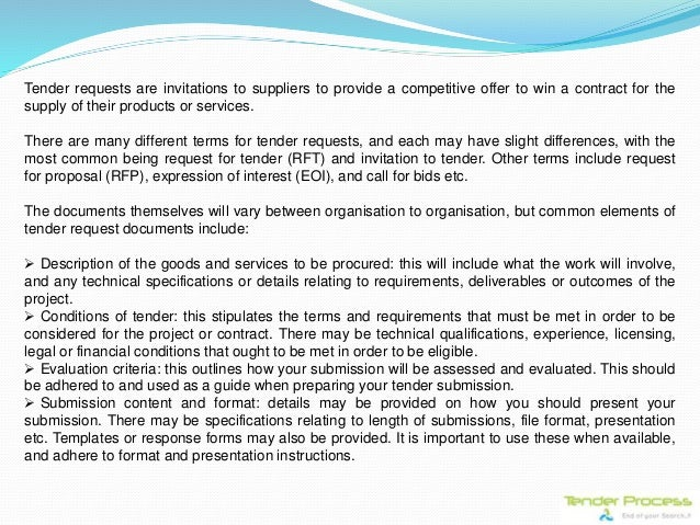 Tender process a complete procurement guide tender requests are invitations stopboris Choice Image