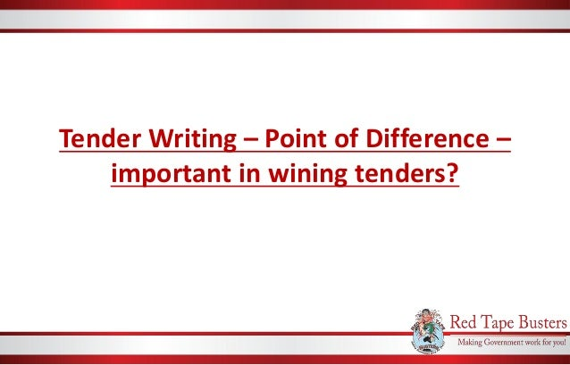 Tender Writing – Point of Difference – important in wining tenders?