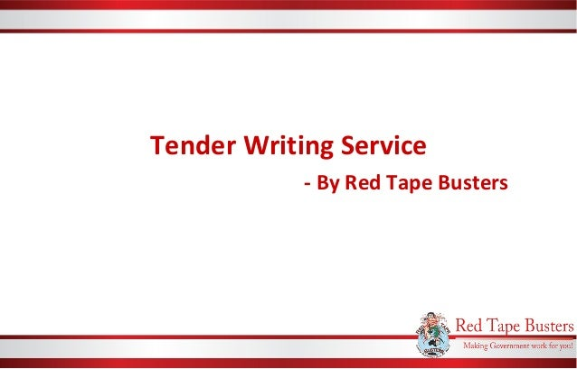 Tender writing services