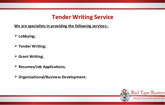 Bid Writing & Tender Writing Service