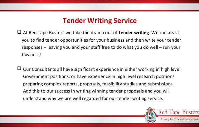 tender writing Business wales is running a series of tailored workshops aimed at businesses who want to start or improve how they tender for contracts.