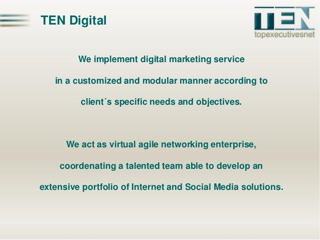 TEN Digital - Official Slide 2