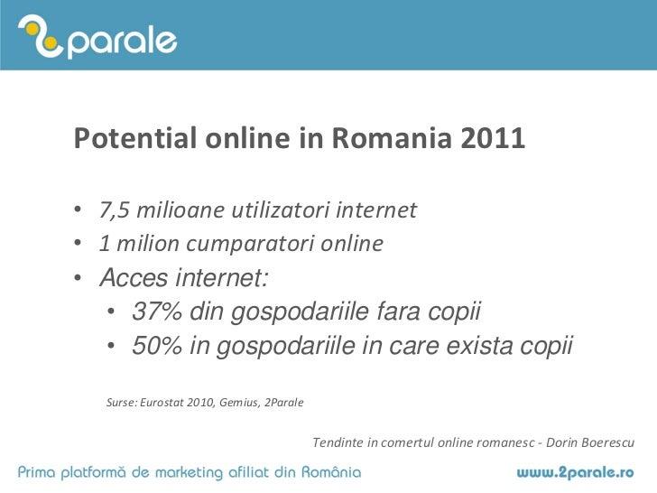 Tendinte in comertul online 2011 - Dorin Boerescu Slide 2