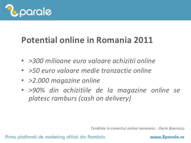 Tendinte in comertul online 2011 - Dorin Boerescu Slide 3