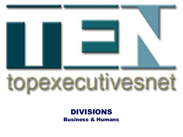 DIVISIONS Business & Humans