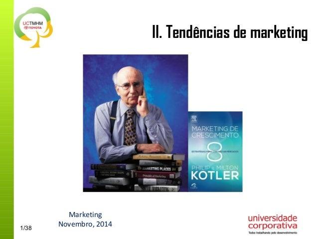 1/38  II. Tendências de marketing  Marketing  Novembro, 2014