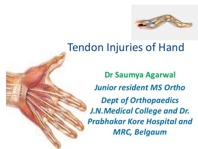 tendon injuries of hand by dr saumya agarwal