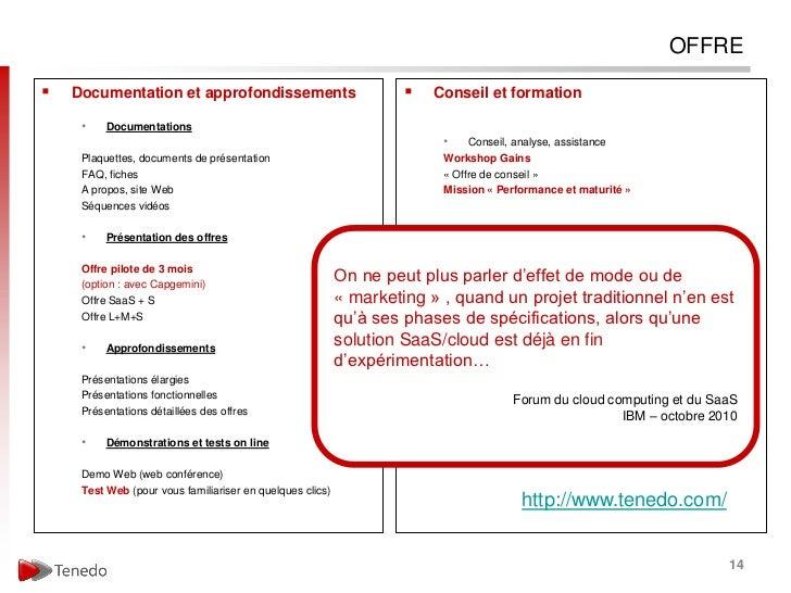 OFFRE   Documentation et approfondissements                                  Conseil et formation     •    Documentation...