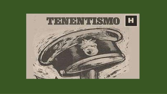  Contexto político:  O que foi o tenentismo?  Manifestações tenentistas:  O que defendiam?  A Revolução de 1930:  De...