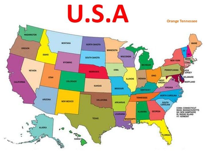 U.S.A      Orange Tennessee<br />