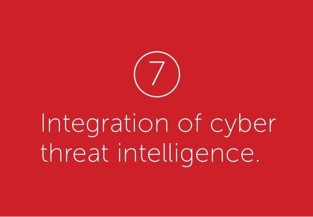 Integration of cyber threat intelligence. 7