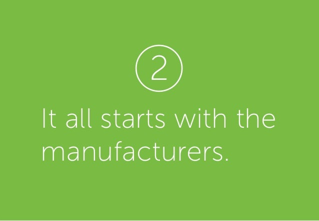 It all starts with the manufacturers. 2
