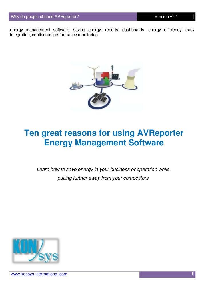 Why do people choose AVReporter?                                    Version v1.1energy management software, saving energy,...