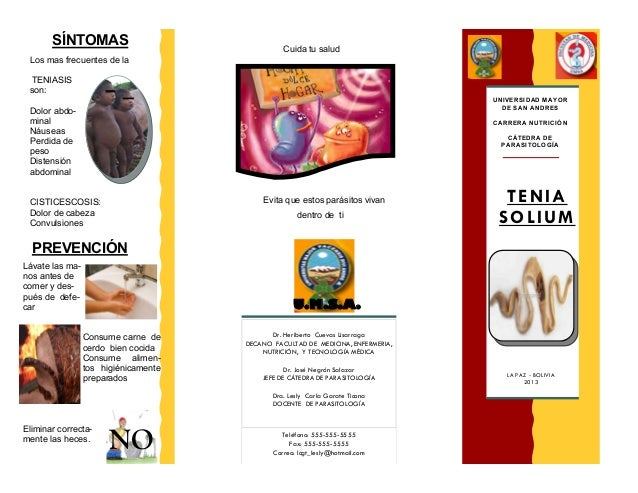 SÍNTOMAS UNIVERSIDAD MAYOR DE SAN ANDRES Teléfono: 555-555-5555 Fax: 555-555-5555 Correo: lcgt_lesly@hotmail.com Dr. Herib...