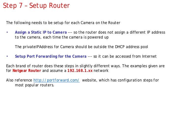 How to setup a Panasonic IP camera … with screenshots