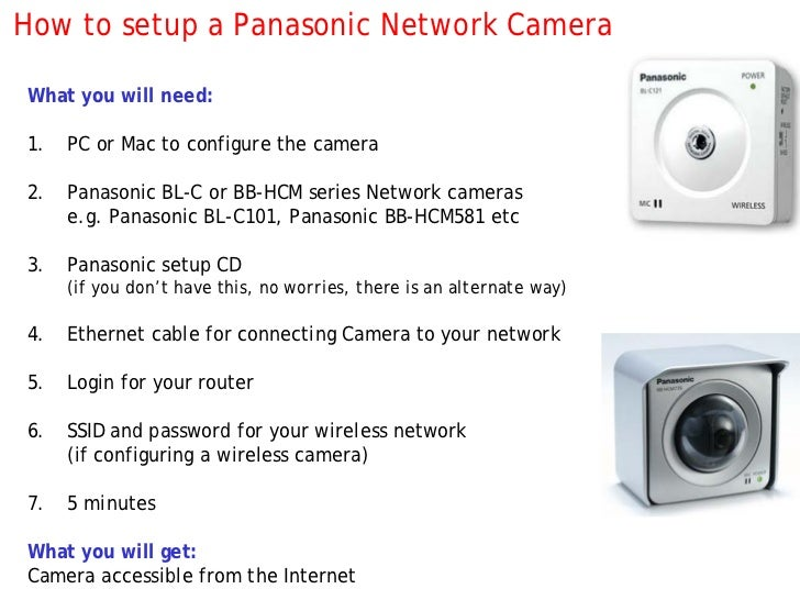 How To Setup A Panasonic Ip Camera With Screenshots border=