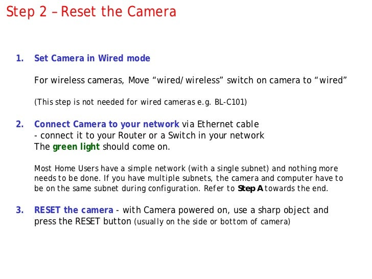 How to setup a Panasonic IP camera … with screenshots