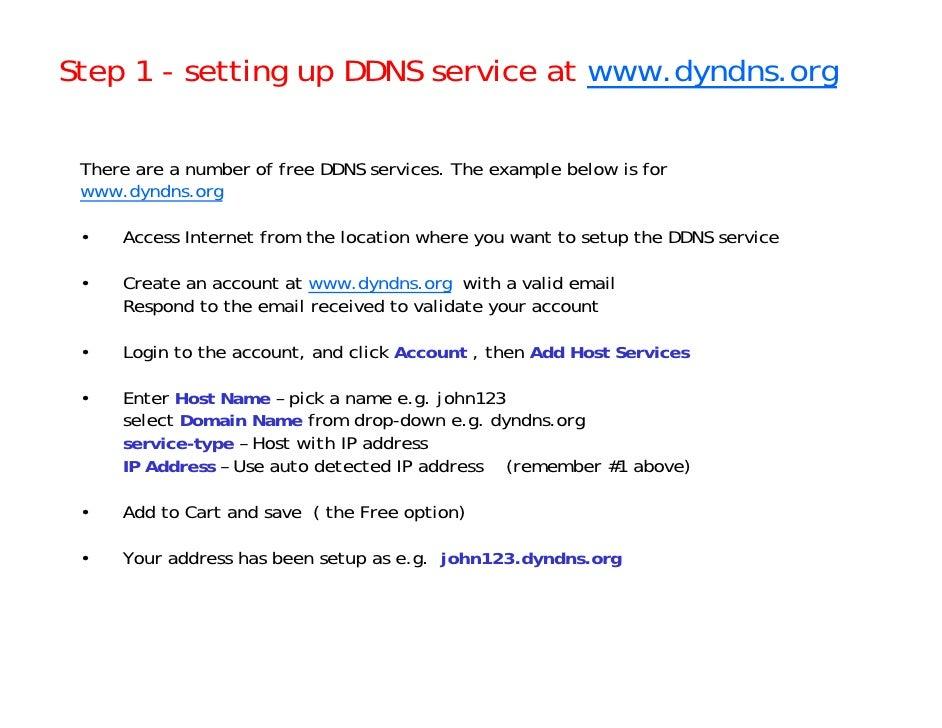 How to setup a DDNS service