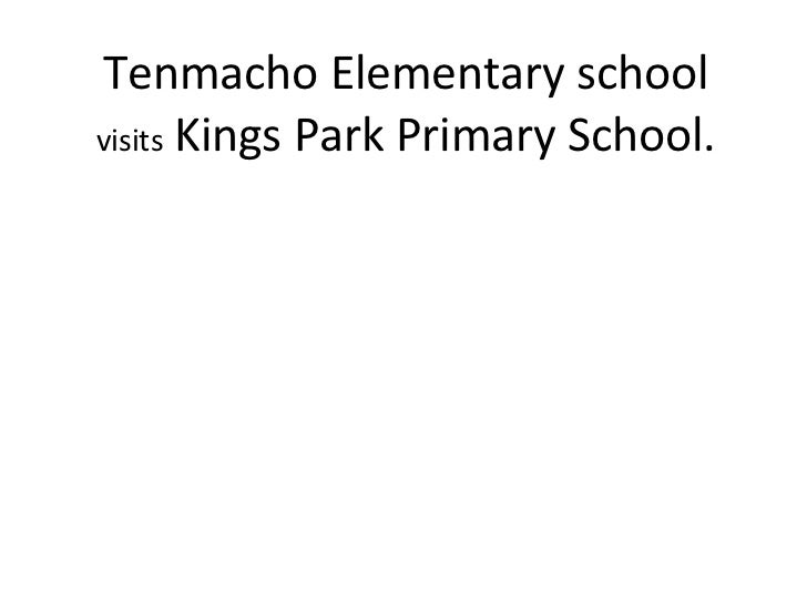 Tenmacho Elementary school  visits   Kings Park Primary School.