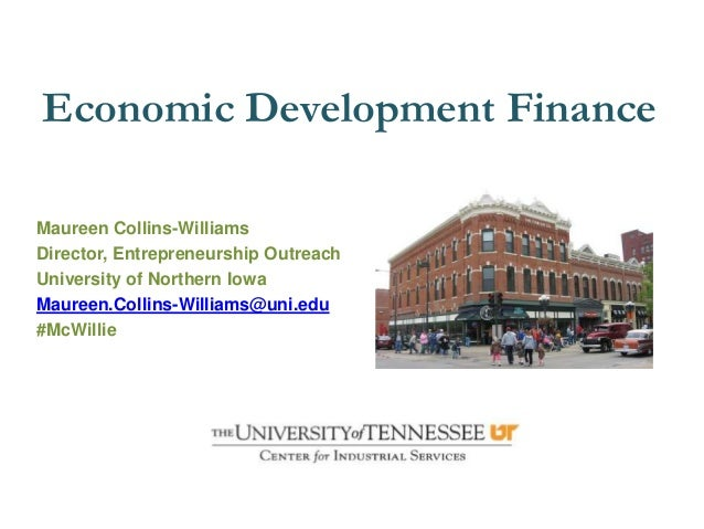 Economic Development FinanceMaureen Collins-WilliamsDirector, Entrepreneurship OutreachUniversity of Northern IowaMaureen....