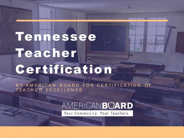 online teaching certificate in tennessee