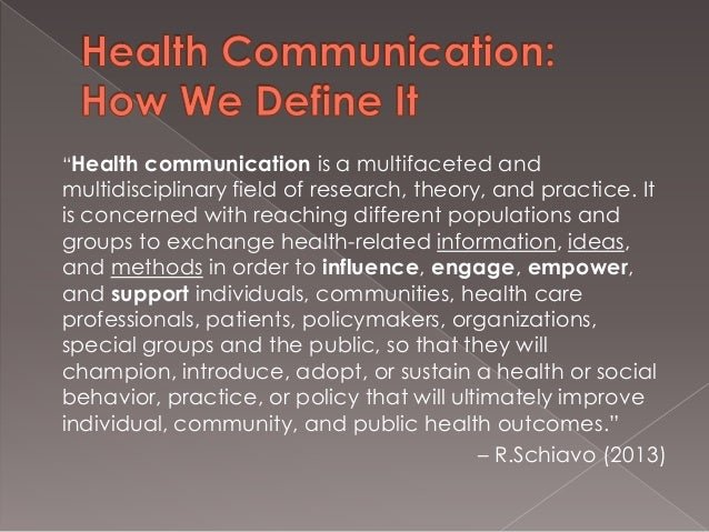 Ten Distinguishing Ideas for Health Communication in the 21st Century…