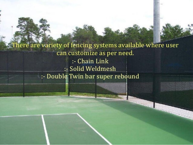 Tennis Court Fencing System