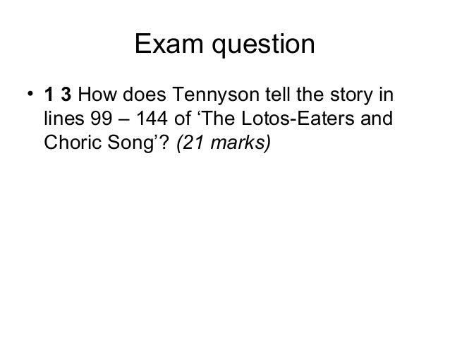 Tennyson   the lotus-eaters