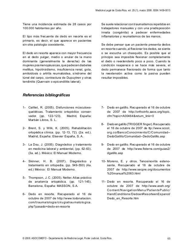 Tenosinovitis estenosante (dedo en resorte)