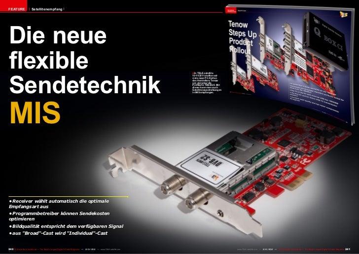 FEATURE                 SatellitenempfangDie neueflexibleSendetechnik                                                     ...