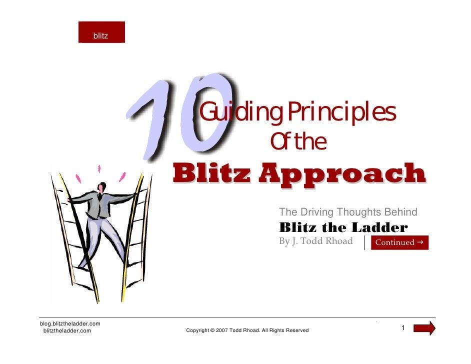 blitz                     blitz                                     Guiding Principles                                    ...