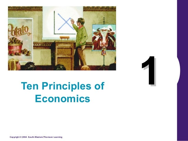 10 principles of economics In this chapter, look for the answers to these questions: what kinds of questions  does economics address what are the principles of how people make.