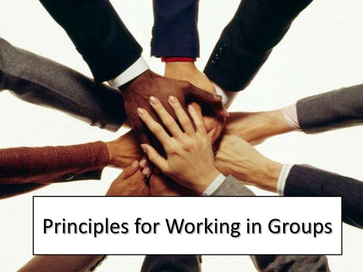 Principles for Working in Groups<br />