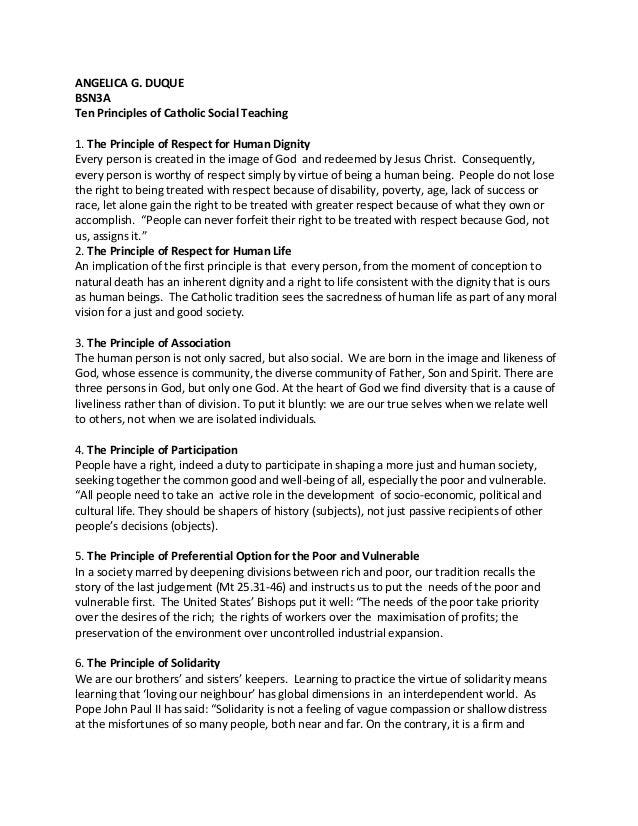 Ten principles of social teaching