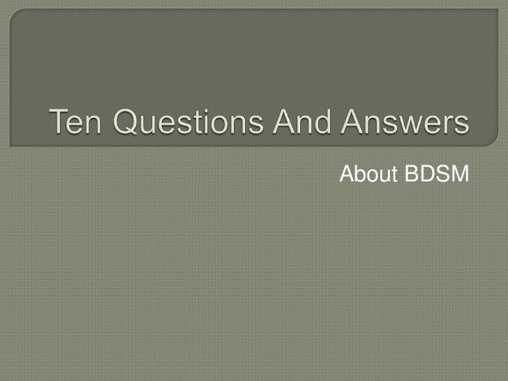 About BDSM