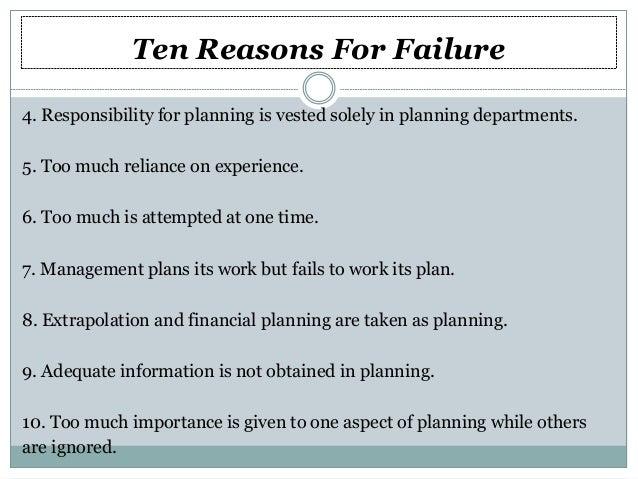 reasons why business plan fail