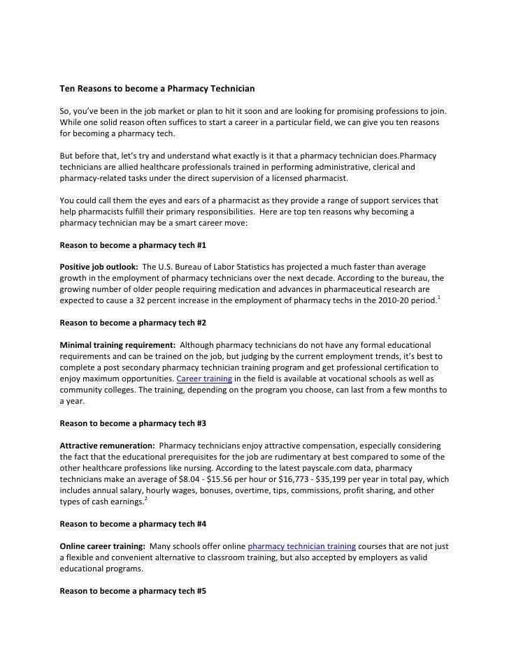 Ten reasons to become a pharmacy technician – Job Outlook Pharmacy