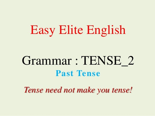 need past tense