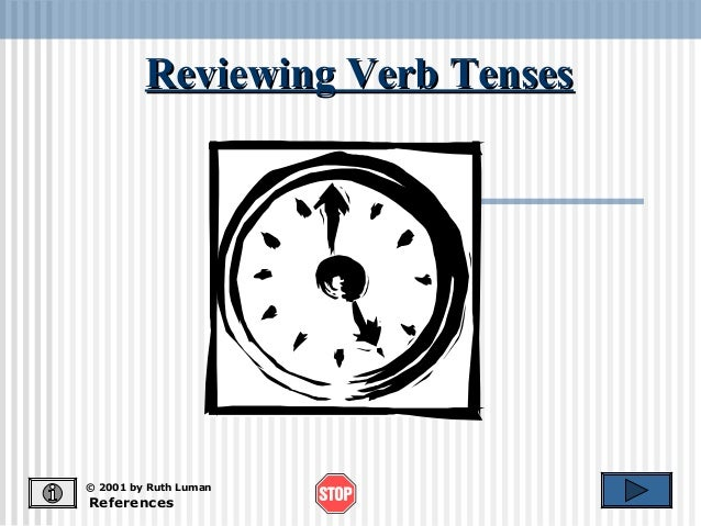 Reviewing Verb TensesReviewing Verb Tenses References © 2001 by Ruth Luman