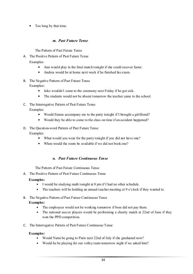 The Paper 16 Tenses English