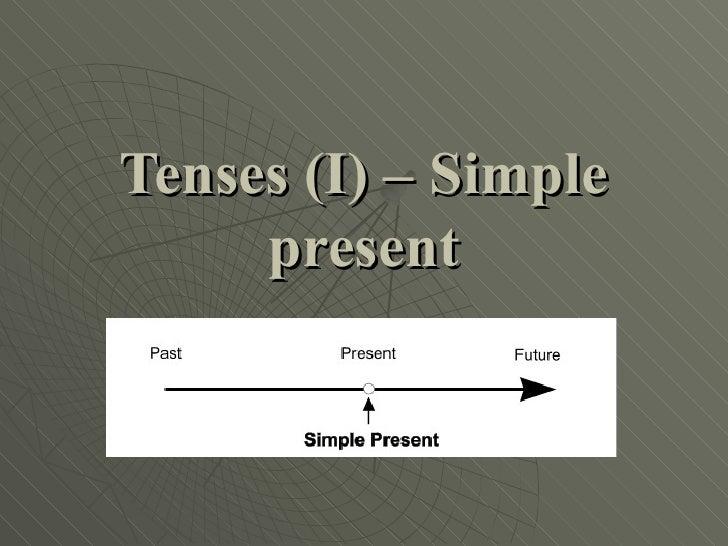 Tenses (I) – Simple     present